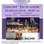 """24/2 Interlevensbeschouwelijk Concert """"Zin in vrede"""" in Antwerpen"""