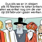 Ook voor andere erkende religies een officiële feestdag? De mening van ORBIT