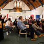 2018-10-30 20:33:58 DEN HAAG - De Haagse Protestantse Kerk (PKN) wil met een doorlopende kerkdienst voorkomen dat de Armeense Hayarpi Tamrazyan en haar familie worden teruggestuurd naar Armenie. Het gezin, dat weken bivakkeerde in een Katwijkse kerk, heeft zijn toevlucht nu gezocht in buurt- en kerkhuis Bethel in Den Haag. ANP NIELS WENSTEDT
